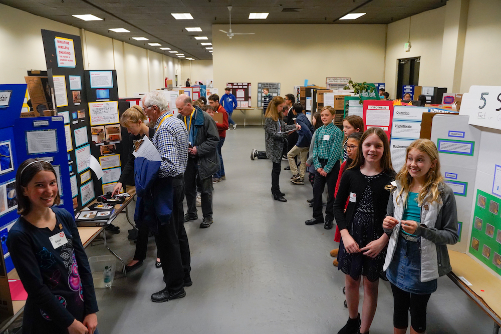 Students display their STEM Fair projects at The Next Big Think