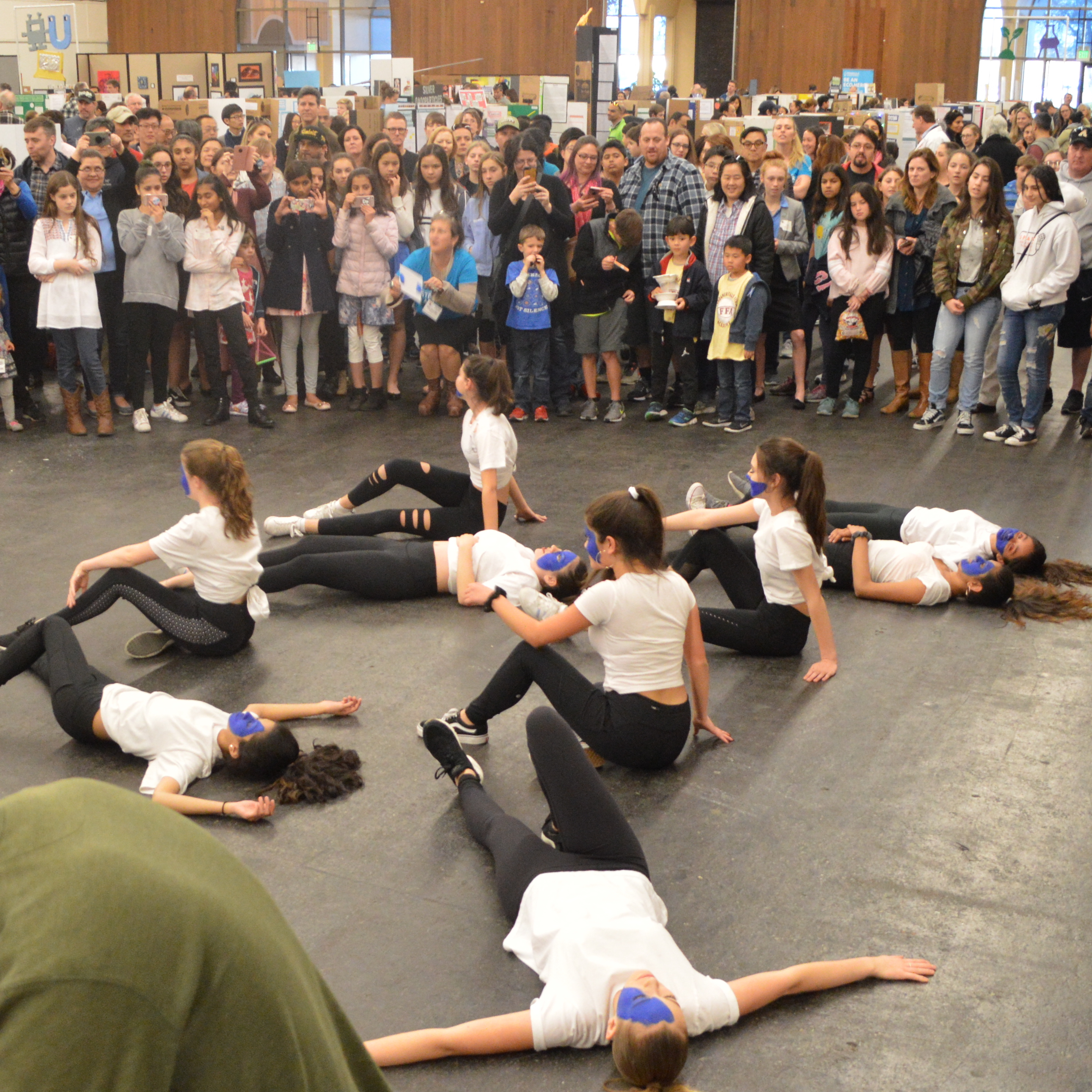 Students perform an interpretive dance number at The Next Big Think.